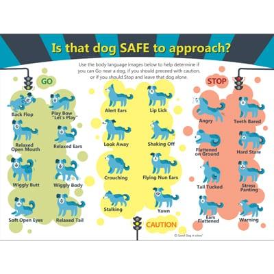 Dog Body Language Poster 18x24